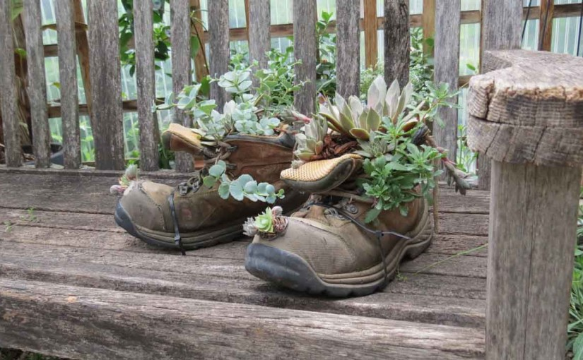 Landscaping Ideas Old Boots