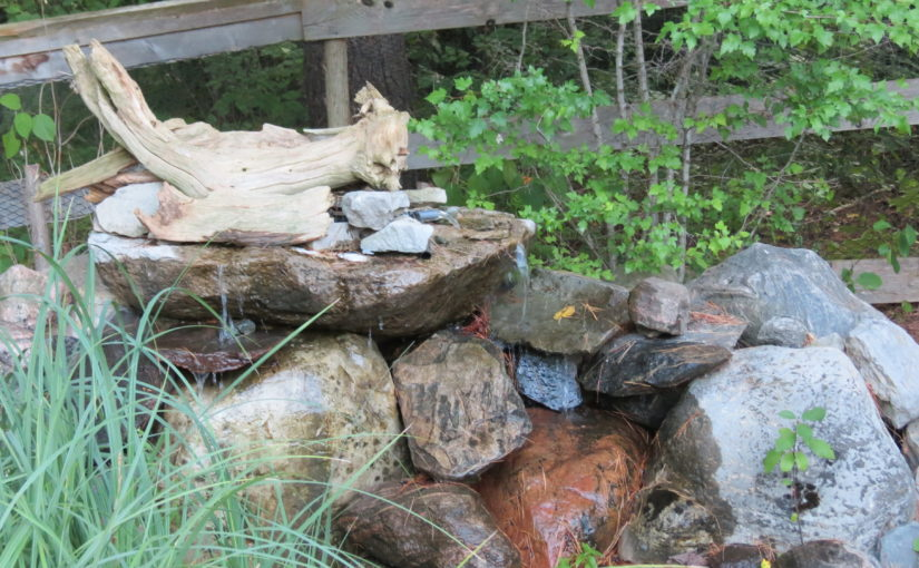 Bois flotté et conception de chute d'eau