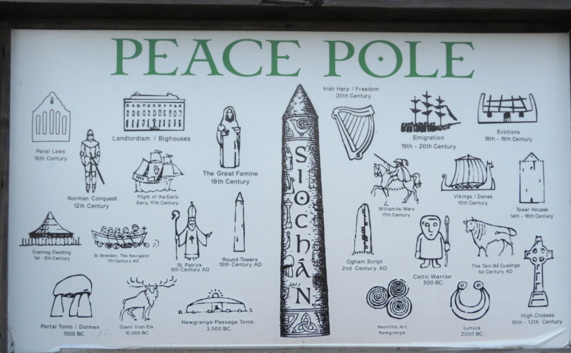 Wood Peace Pole Symbols