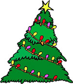 Christmas Trees Decorated: Decorated Illustration - Merry Christmas Tree Illustration Image