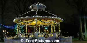 Gazebo Decorated with LED Lights for Christmas