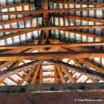 Cedar Tree Image: Cedar Wood Rafters or Timbers Create an Architectual Interior Roofing Structure and Ceiling Finish, Bermuda Church | Cedar:Roofs at Tree-Pictures.com