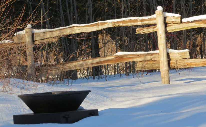 Cedar rail clôture