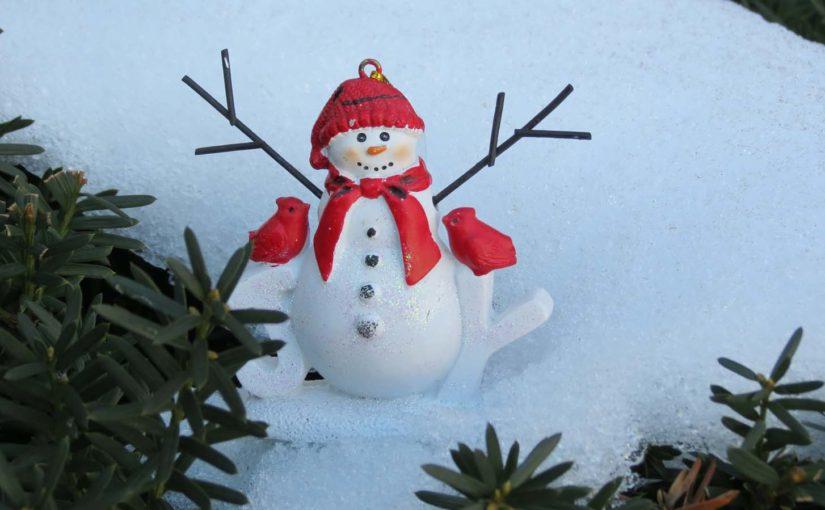 Julens snømansdekorasjon